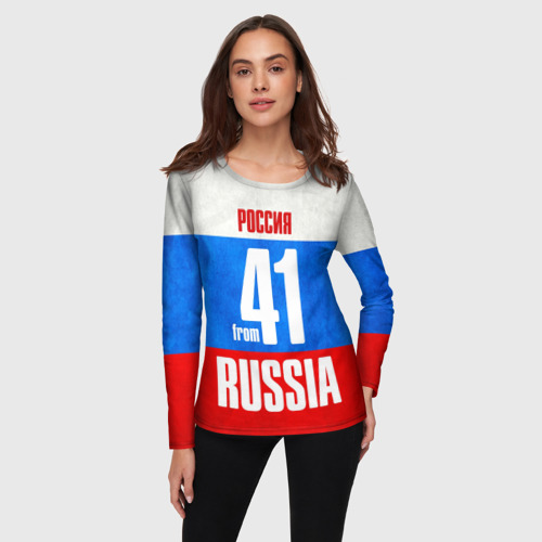 Женский лонгслив 3D Russia (from 41) Фото 01