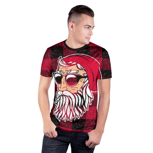 Мужская футболка 3D спортивная Санта хипстер Фото 01