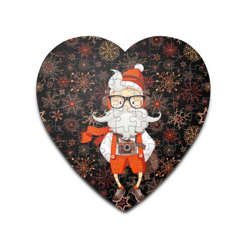 Пазл сердце 75 элементов  Фото 01, Санта хипстер