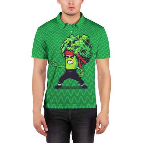 Мужская рубашка поло 3D  Фото 03, Брокко Ли