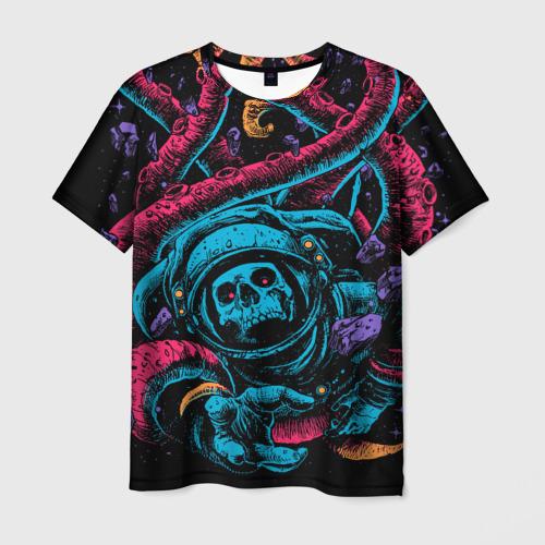 Мужская футболка 3D Космический осьминог