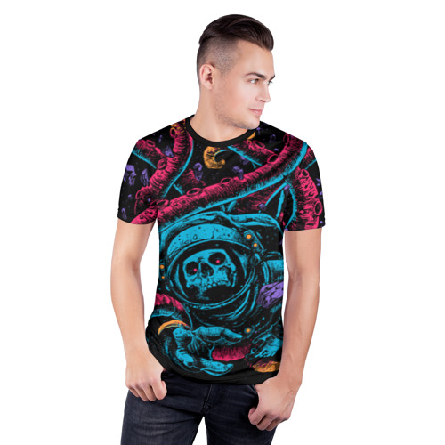 Мужская футболка 3D спортивная  Фото 03, Космический осьминог