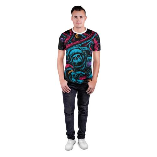 Мужская футболка 3D спортивная  Фото 04, Космический осьминог