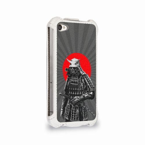 Чехол для Apple iPhone 4/4S flip  Фото 02, Мертвый самурай
