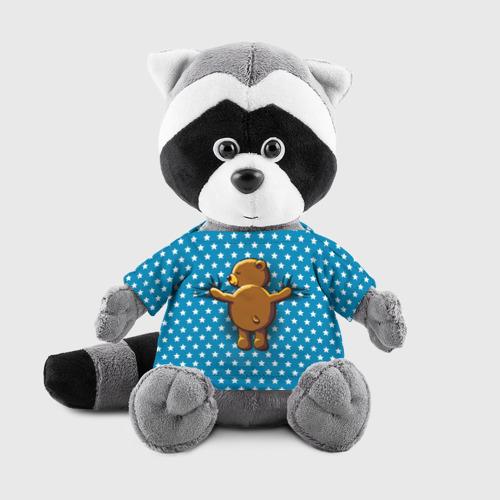 Енотик в футболке 3D  Фото 01, Медвежьи объятия
