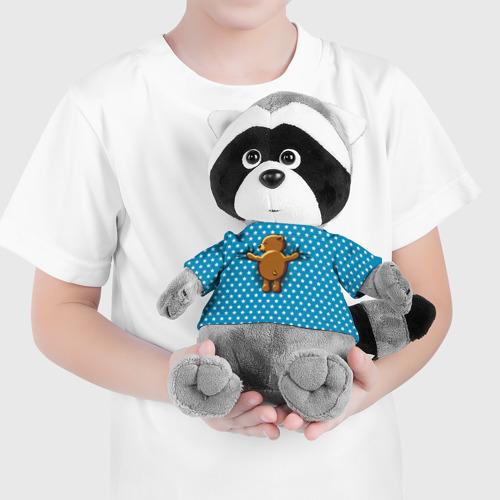 Енотик в футболке 3D  Фото 04, Медвежьи объятия
