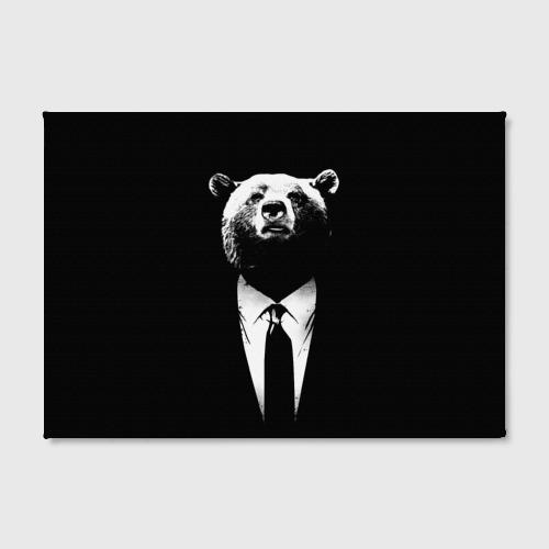 Холст прямоугольный  Фото 02, Медведь бизнесмен