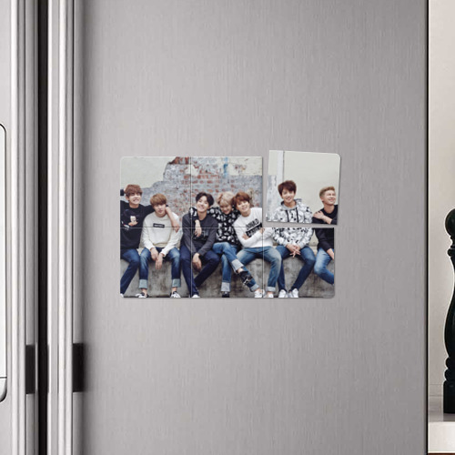 "Магнитный плакат 3Х2 Кружка ""BTS"" Фото 01"