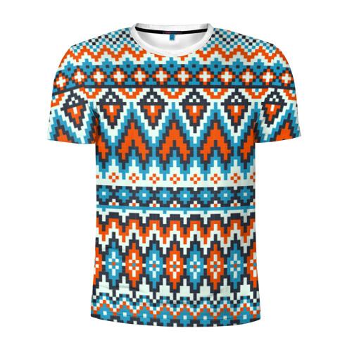 Мужская футболка 3D спортивная  Фото 01, Норвежские узоры