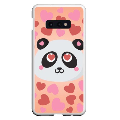 Чехол для Samsung S10E Влюбленная панда Фото 01