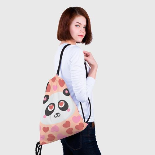 Рюкзак-мешок 3D  Фото 02, Влюбленная панда