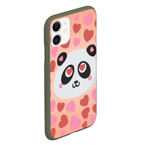 Чехол для iPhone 11 матовый Влюбленная панда Фото 01