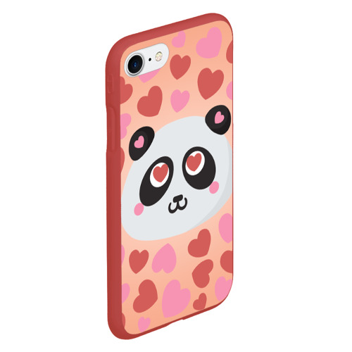 Чехол для iPhone 7/8 матовый Влюбленная панда Фото 01