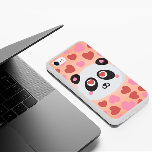 Чехол для iPhone 6Plus/6S Plus матовый Влюбленная панда Фото 01