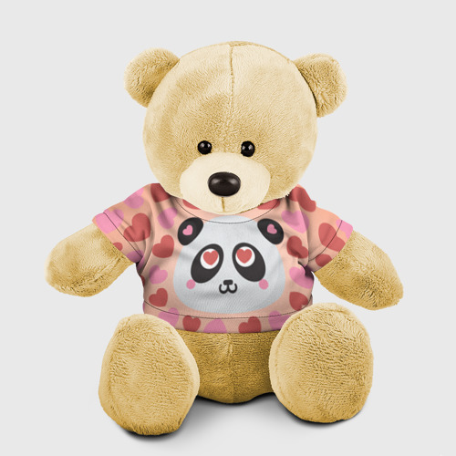 Мишка в футболке 3D Влюбленная панда Фото 01