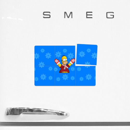 Магнитный плакат 3Х2  Фото 02, Симпсоны новогодние 2