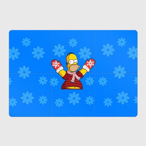 Магнитный плакат 3Х2  Фото 01, Симпсоны новогодние 2