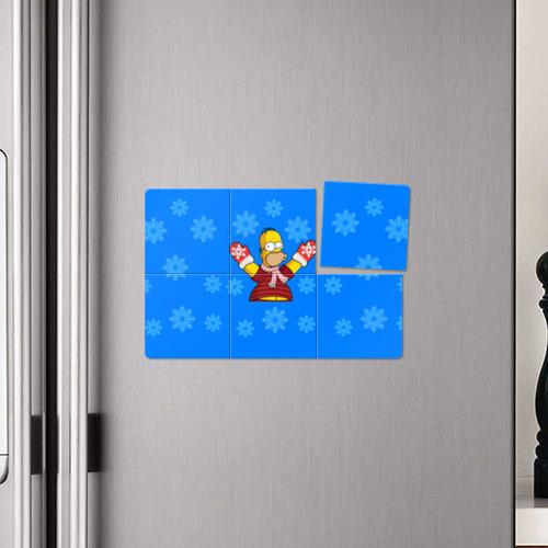 Магнитный плакат 3Х2  Фото 04, Симпсоны новогодние 2