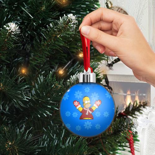 Ёлочный шар Симпсоны новогодние 2 Фото 01