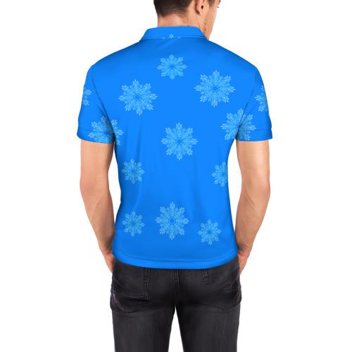 Мужская рубашка поло 3D  Фото 04, Симпсоны новогодние 2