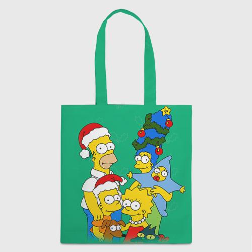 Сумка 3D повседневная Симпсоны новогодние 3 Фото 01