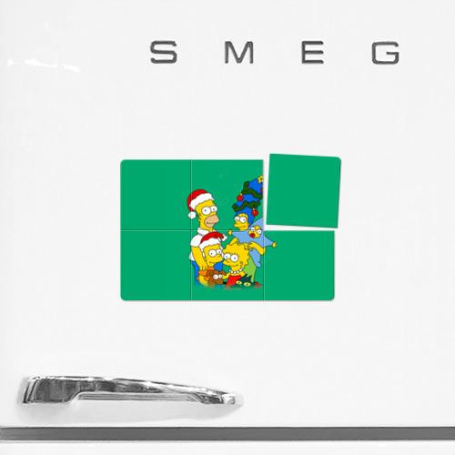 Магнитный плакат 3Х2  Фото 02, Симпсоны новогодние 3