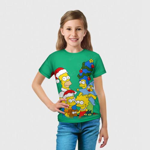 Детская футболка 3D Симпсоны новогодние 3 Фото 01
