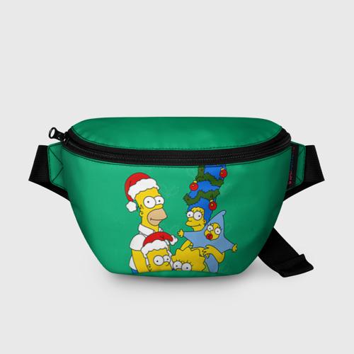Поясная сумка 3D Симпсоны новогодние 3 Фото 01