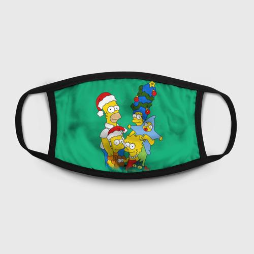 Маска защитная (+5 фильтров) Симпсоны новогодние 3 Фото 01