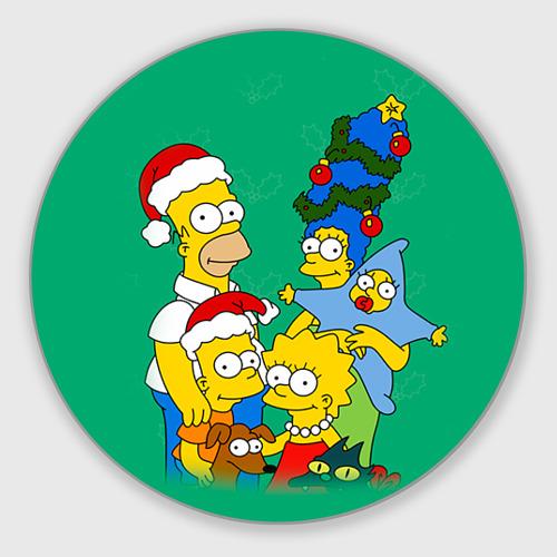 Коврик для мышки круглый Симпсоны новогодние 3 Фото 01