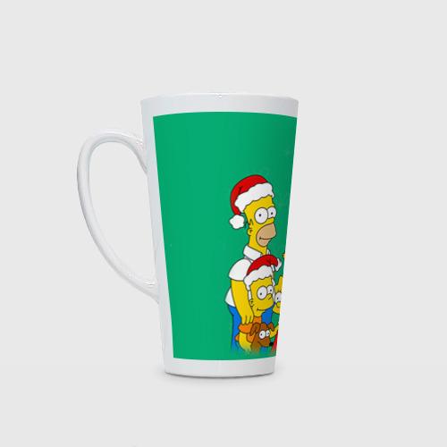 Кружка Латте Симпсоны новогодние 3 Фото 01