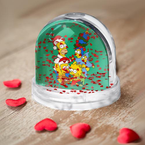 Снежный шар Симпсоны новогодние 3 Фото 01