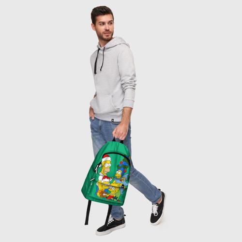 Рюкзак 3D Симпсоны новогодние 3 Фото 01