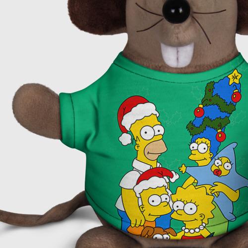 Мышь в футболке 3D Симпсоны новогодние 3 Фото 01