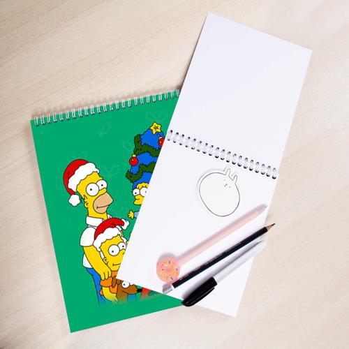 Скетчбук Симпсоны новогодние 3 Фото 01