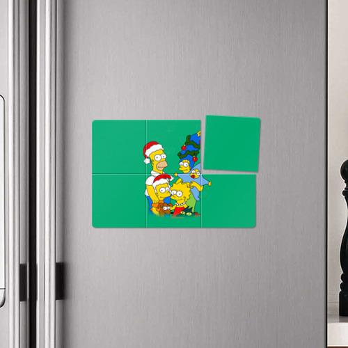 Магнитный плакат 3Х2  Фото 04, Симпсоны новогодние 3