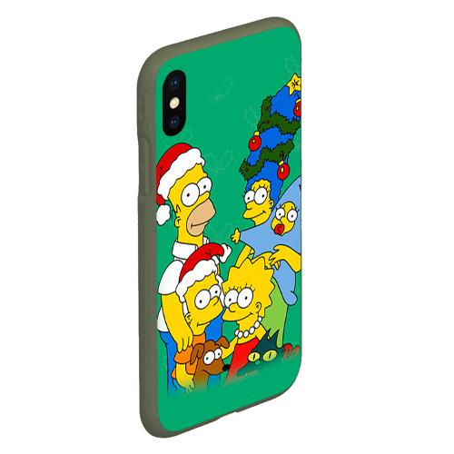 Чехол для iPhone XS Max матовый Симпсоны новогодние 3 Фото 01