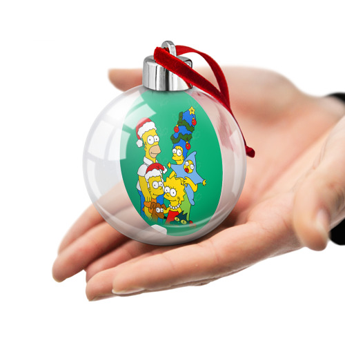 Ёлочный шар Симпсоны новогодние 3 Фото 01