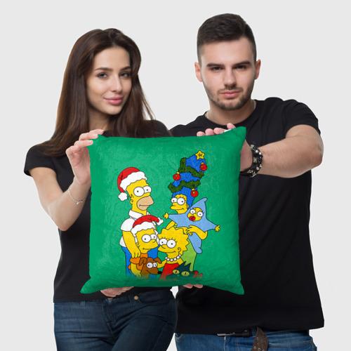 Подушка 3D Симпсоны новогодние 3 Фото 01