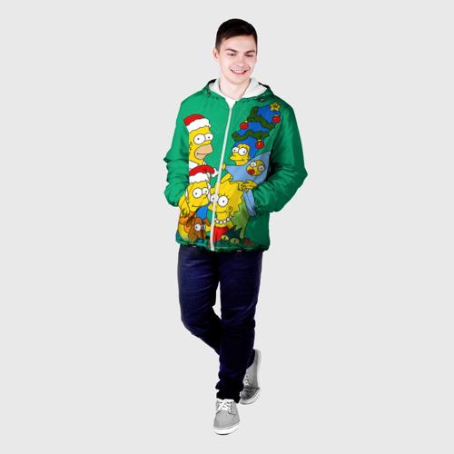 Мужская куртка 3D Симпсоны новогодние 3 Фото 01