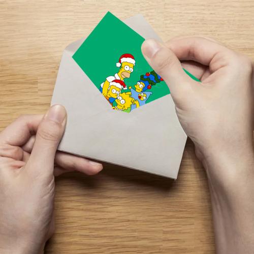 Поздравительная открытка Симпсоны новогодние 3 Фото 01