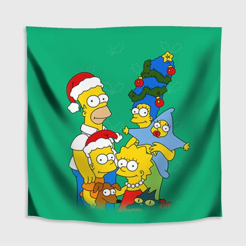 Скатерть 3D Симпсоны новогодние 3 Фото 01