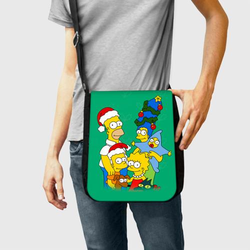 Сумка через плечо Симпсоны новогодние 3 Фото 01