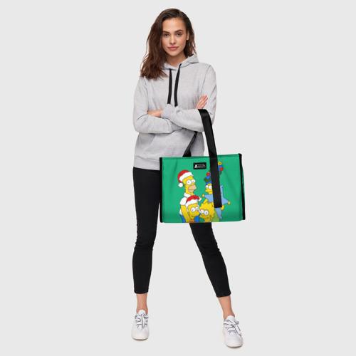 Сумка-шоппер 3D Симпсоны новогодние 3 Фото 01