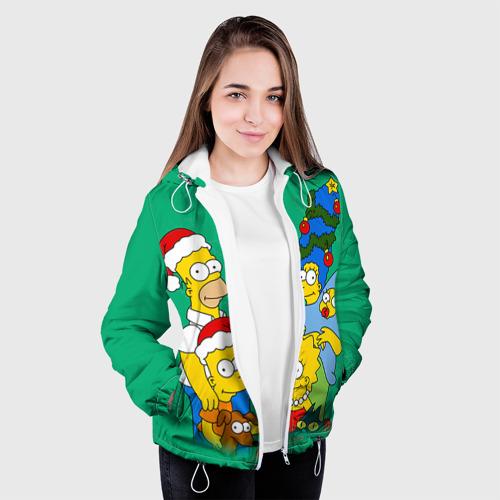 Женская куртка 3D Симпсоны новогодние 3 Фото 01