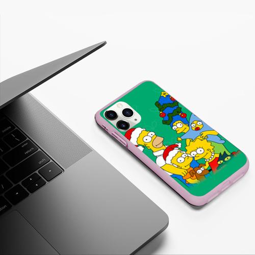 Чехол для iPhone 11 Pro матовый Симпсоны новогодние 3 Фото 01