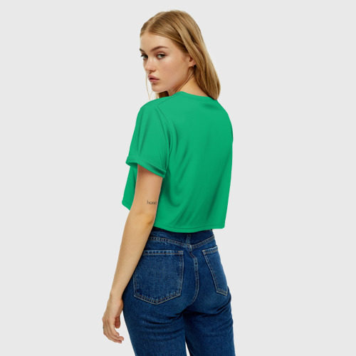 Женская футболка Crop-top 3D Симпсоны новогодние 3 Фото 01