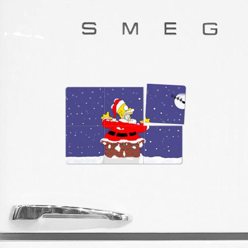 Магнитный плакат 3Х2  Фото 02, Симпсоны новогодние 4
