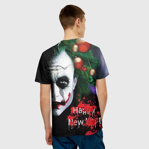 Мужская футболка 3D  Фото 02, Новогодний Джокер