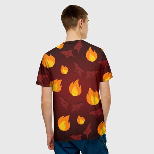 Мужская футболка 3D  Фото 02, Панда дьяволенок
